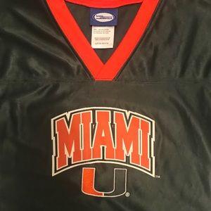 Miami U V Neck football jersey - Large